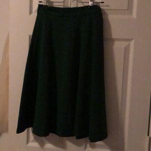 Dark green midi skirt